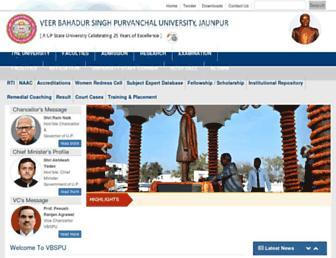 vbspu.ac.in screenshot