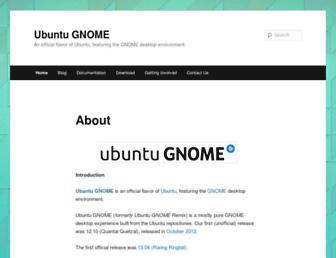 Thumbshot of Ubuntugnome.org