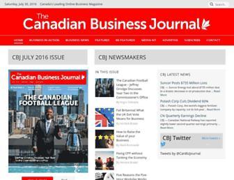 Main page screenshot of cbj.ca