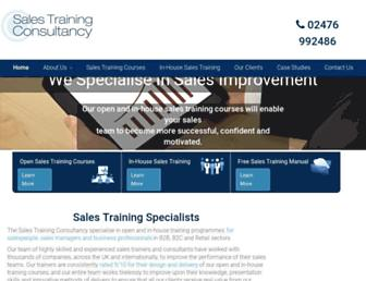 salestraining.co.uk screenshot