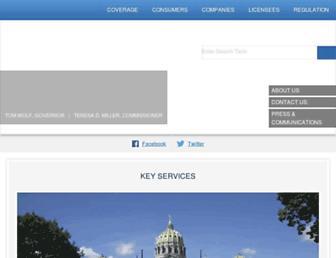 insurance.pa.gov screenshot
