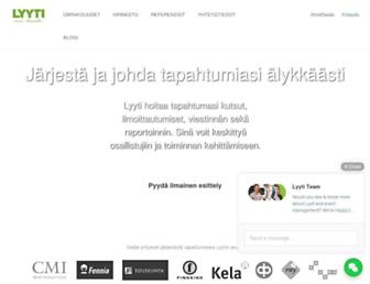 Main page screenshot of lyyti.in