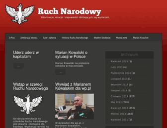 ruchnarodowy.org screenshot