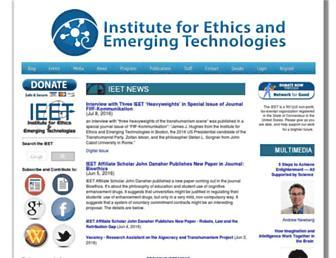 Main page screenshot of ieet.org