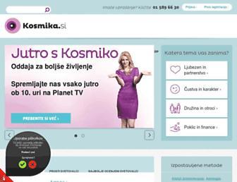 kosmika.si screenshot