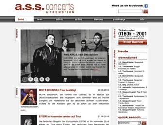 Main page screenshot of ass-concerts.de