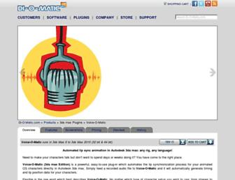 voice-o-matic.com screenshot