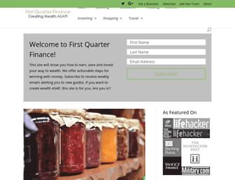 firstquarterfinance.com screenshot