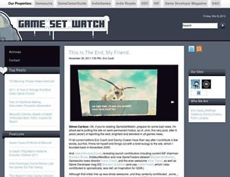 Thumbshot of Gamesetwatch.com
