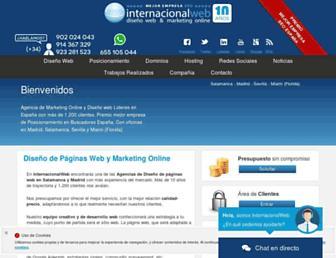 internacionalweb.com screenshot
