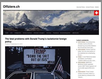 Main page screenshot of offiziere.ch