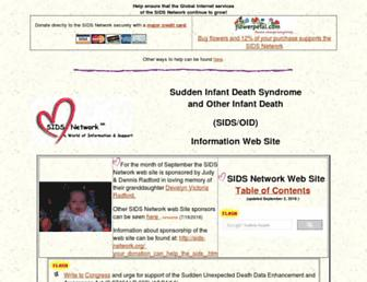 Main page screenshot of sids-network.org