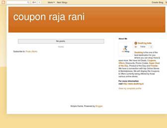 couponrajarani.blogspot.com screenshot