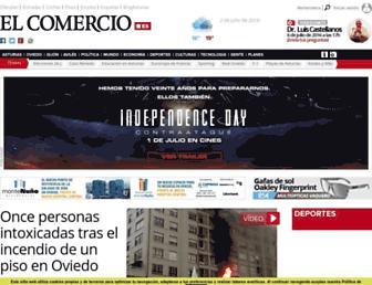 Main page screenshot of elcomercio.es