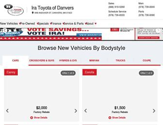 toyotaofdanvers.com screenshot