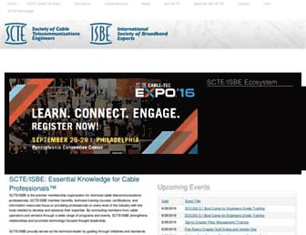 scte.org screenshot
