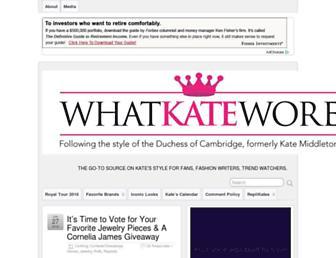 Thumbshot of Whatkatewore.com