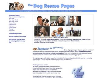 Main page screenshot of dogpages.org.uk