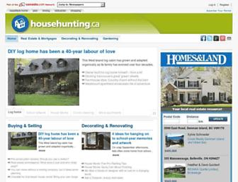 Main page screenshot of househunting.ca