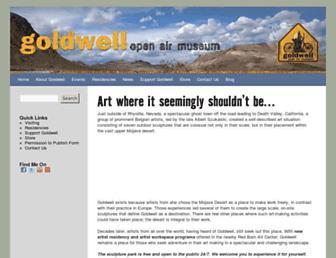 Main page screenshot of goldwellmuseum.org