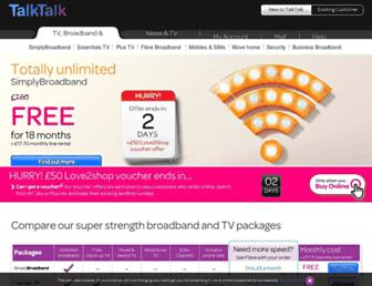Thumbshot of Talktalk.co.uk