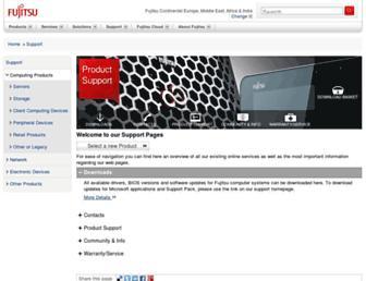 support.ts.fujitsu.com screenshot