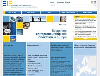 eif.europa.eu screenshot