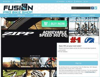 fusionprobikeshop.com screenshot