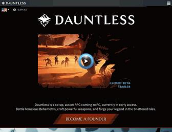 playdauntless.com screenshot