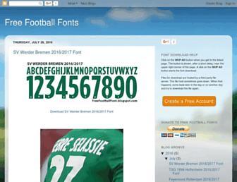 freefootballfont.blogspot.com screenshot