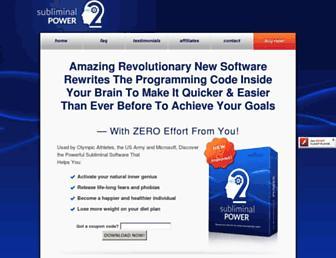subliminalpower2.com screenshot
