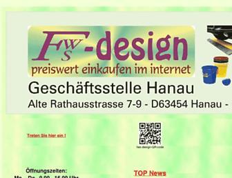 Main page screenshot of fws-design.de