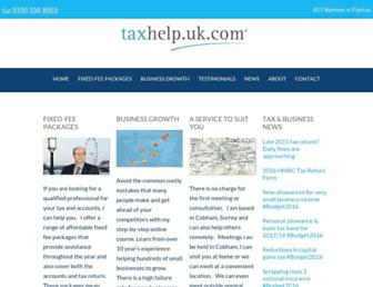 taxhelp.uk.com screenshot