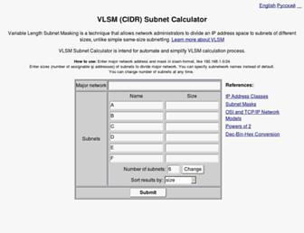 vlsm-calc.net screenshot
