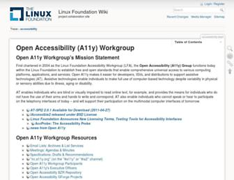 accessibility.linuxfoundation.org screenshot