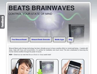 beatsbrainwaves.com screenshot