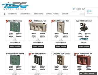 asctanks.com.au screenshot