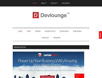 Main page screenshot of devlounge.net