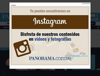 Main page screenshot of panorama.com.ve