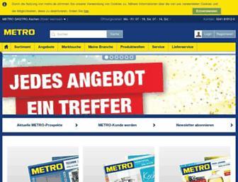 Main page screenshot of metro24.de