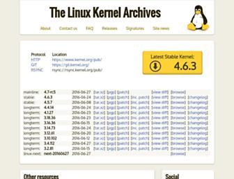 kernel.org screenshot