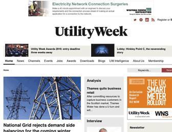 utilityweek.co.uk screenshot