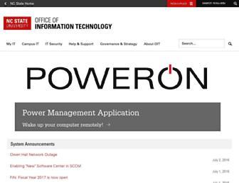 Main page screenshot of oit.ncsu.edu