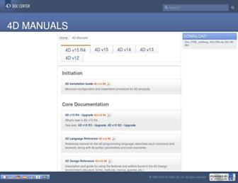 doc.4d.com screenshot