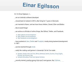 einaregilsson.com screenshot