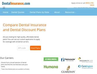 dentalinsurance.com screenshot