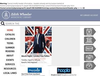 Main page screenshot of ewml.org