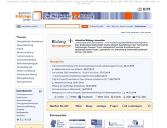 Main page screenshot of bildungsserver.de
