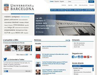Main page screenshot of ub.edu