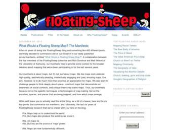 Main page screenshot of floatingsheep.org